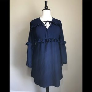 Dresses & Skirts - Ruffled Blue Dress in 3X (True to Size)